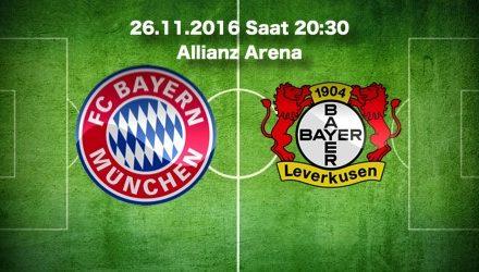 Bayern Münih – Bayer Leverkusen Maç Tahmini ve bahis oranları 26.11.16