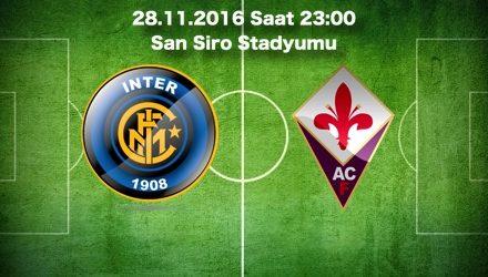Inter – Fiorentina Maç Tahmini ve bahis oranları 28.11.2016
