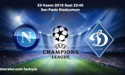 Napoli – Dinamo Kiev Maç Tahmini iddaa oranları
