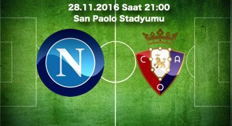 Napoli - Sassuolo Maç Tahmini