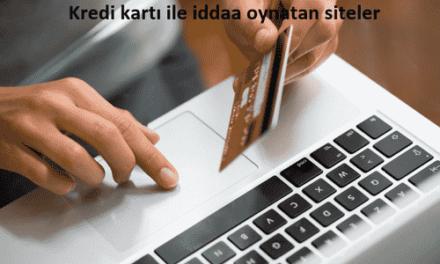 Kredi kartı ile iddaa oynatan siteler